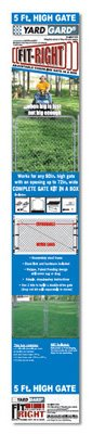 Midwest Air 3283AD60 60 in. Adjustable Single Walk Galvanized Fit Right Gate by Midwest Gloves