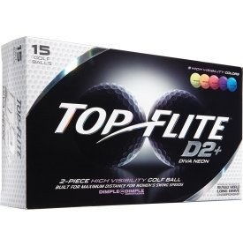 2015 Top Flite D2+ Diva Neon (15 Pack) by Top Flight