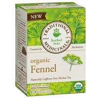 Traditional Medicinals Teas Fennel Organic -- 16 Tea Bags Each / Pack of 3
