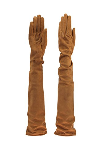 Parisi Gloves - Italian Leather Gloves 60cm long - silk lining - 16Pst (8, COLONIAL SUEDE) by PARISI GLOVES
