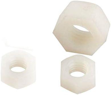 Size: M18 Nuts 2Pcs M10 M12 M14 M16 M18 M20 M24 Nylon Hexagon Nuts Plastic Hex Nut White Color