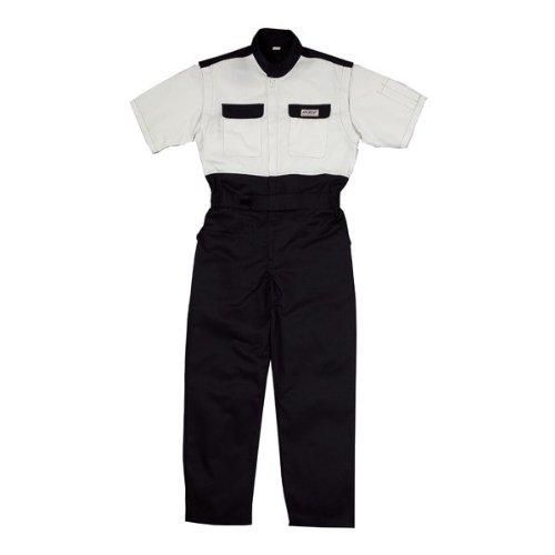 kurehifuku(クレヒフク)半袖つなぎ ピットスーツ 形態安定加工、防縮防シワ加工 kr-kr603 B008H1Z2R0 LL|ホワイト ホワイト LL