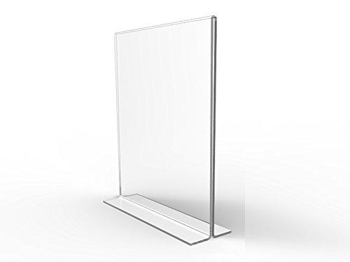 Plastic Table Tents - FixtureDisplays 6PK 8.5 x 11