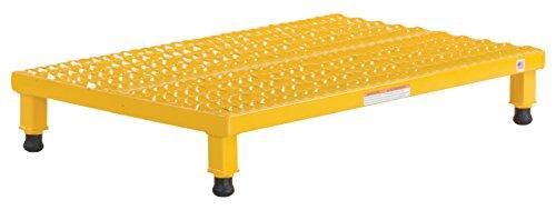 (Vestil AHW-L-2436 Adjustable Work-Mate Stand with Serrated Deck, Steel, 36