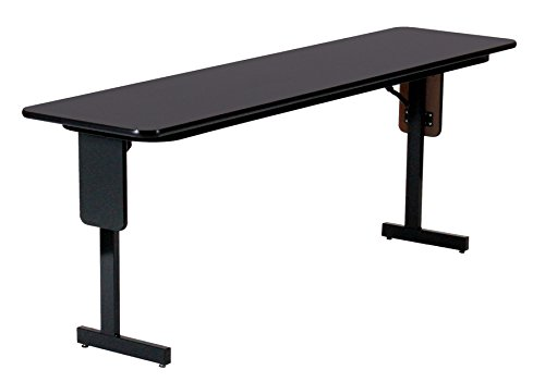 Correll SP1896PX-07 High Pressure Laminate Classroom, Training or Seminar Table with Folding Panel Leg, Rectangular, 18