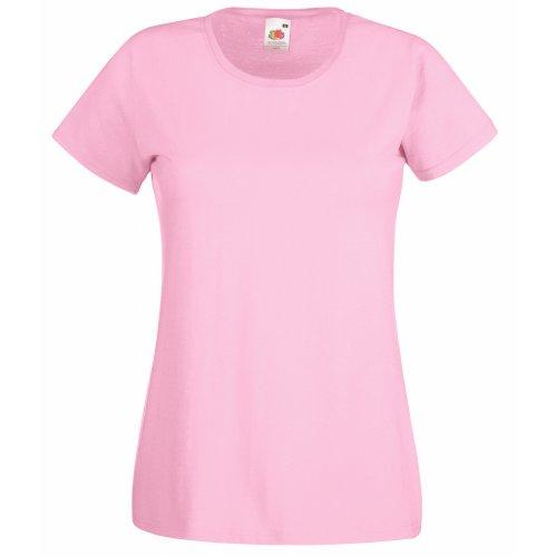 Fruit Of The Loom- Camiseta de manga corta Valueweight para mujer Rosa claro