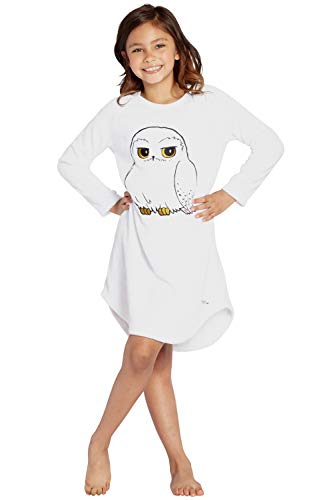 Harry Potter Pajama Girls' Hedwig Owl Micro Raschel Fleece Hi-Lo Nightgown Costume (XS, 4/5)]()