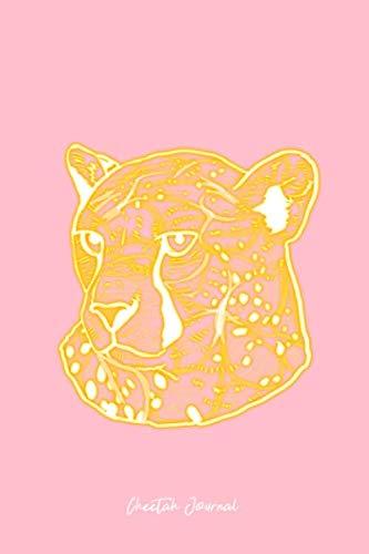 Cheetah Journal: Lined Journal - Shining Cheetah Head Abstract Art Big Cat Wild Animals Gift - Pink Ruled Diary, Prayer, Gratitude, Writing, Travel, Notebook For Men Women - 6x9 120 ()