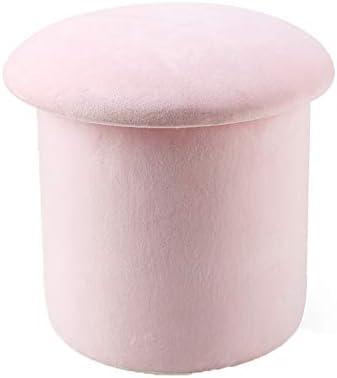 ピンクの収納ボックスの靴のフットスツールとプーフのおもちゃの胸の子供の小さなスツールは、リビングルームの寝室に適しています WANGLX (Size : Big)