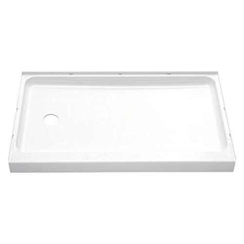 (STERLING 72171110-0 60-Inch Shower Base Vikrell Left Drain, White)
