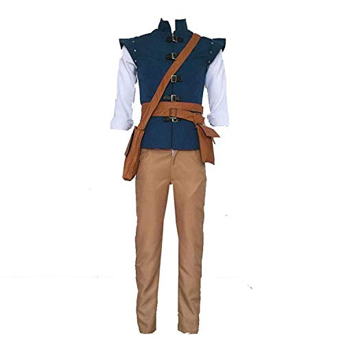 Cuterole Men Tangled Costume Eugene Fitzherbert (Flynn Rider) Cosplay Outfit -