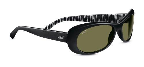 Serengeti Bella Sunglasses Shiny Black Zebra Polarized 555nm