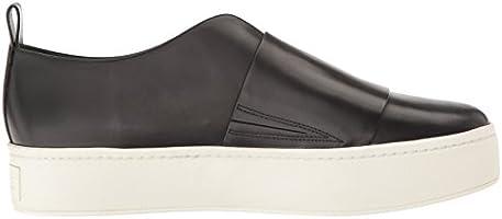 9b7744d360ca9 Vince Women's Wallace Black Leather Fashion Sneaker, 6.5 M US ...
