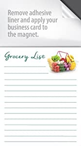 Amazon magnet notepads with a peel and stick area for your magnet notepads with a peel and stick area for your business card box of 100 notepads basic grocery list colourmoves