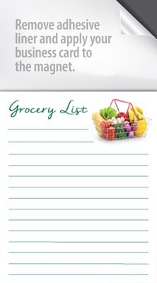 Amazon magnet notepads with a peel and stick area for your magnet notepads with a peel and stick area for your business card box of colourmoves