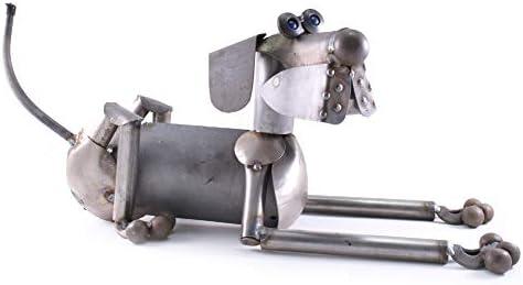 Modern Artisans Scrappy The Dog Reclaimed Metal Garden Sculpture
