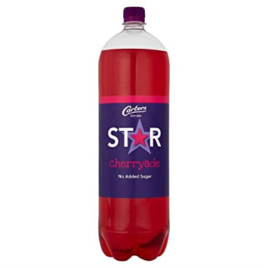 Carters Star Cherryade No Added Sugar Fizzy Drinks 2 Litre Case Of 8