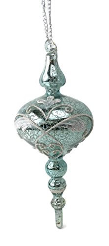 Veranda Mercury Glass Scroll Pendant Ornament 9