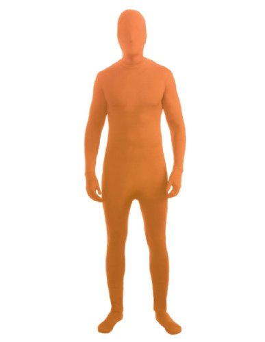 Forum Novelties Women's Teen Disappearing Man Color Stretch Body Suit Costume, Neon Orange, (Body Suit Costume)