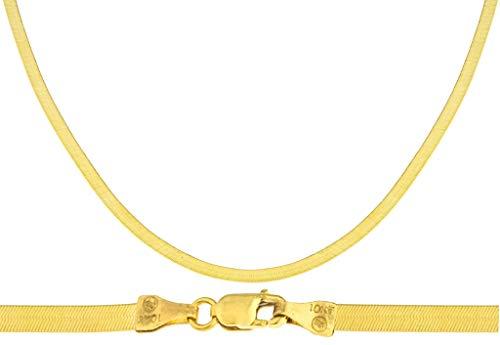 JOTW 10k Yellow Gold 4mm Herringbone Chain Necklace (22)