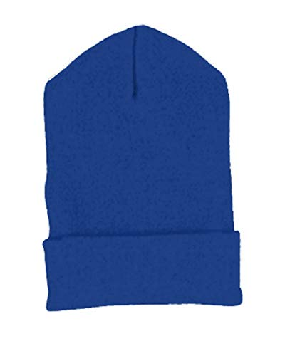 Cuffed Knit Yupoong (Yupoong 1501 Heavy Weight Cuffed Knit Cap Royal One Size)