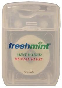 New World Imports DF12 Dental Floss, Mint, Waxed, 12 Yard (Pack of 144)