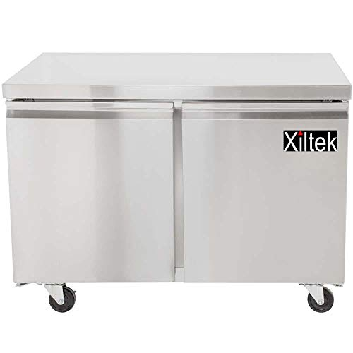 - NEW XILTEK 48″ TWO STAINLESS STEEL DOOR COMMERCIAL UNDERCOUNTER REFRIGERATOR