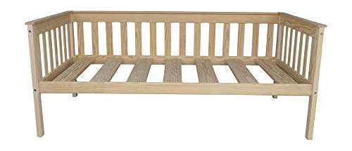 (DutchCrafters Amish Mission Daybed (Unfinished Pine, Twin Bed))