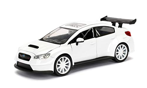 Jada Toys Fast & Furious 1:24 Mr. Little Nobody's Subaru WRX STI Die-cast Car, Toys for Kids and Adults, White (98296) 1