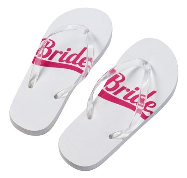 40b0451d005161 Lillian Rose Bride Flip Flops Medium  Amazon.co.uk  Kitchen   Home