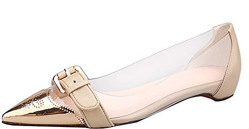 Ponerse 5CM tac Mujer Puntiaguda Qaicn Zapatos 8 Arraysa Punta de 1qYwqZ