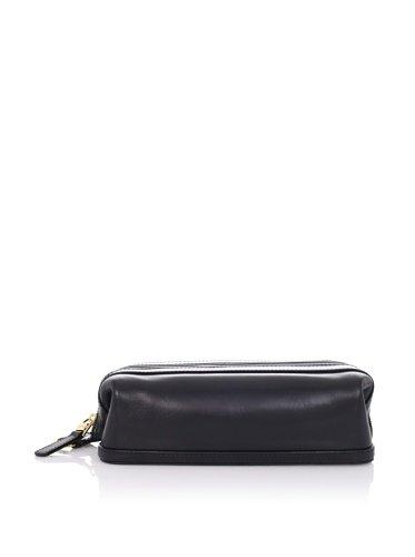 Bosca Old Leather 10'' Zipper Utility Kit (Black) by Bosca