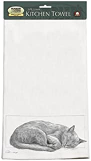 product image for Black and White CatNap Set 2 Dish KITCHEN TOWELS Gift
