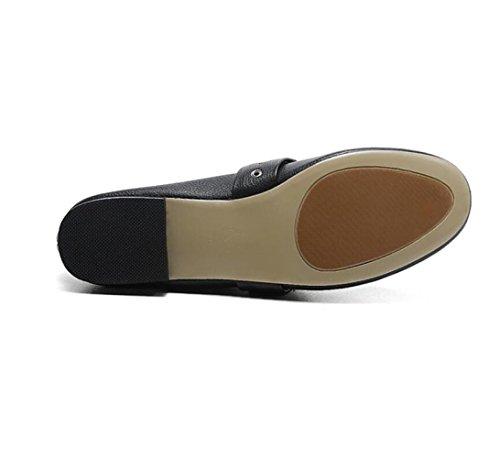 Ceinture Confort Boucle Femme Cuir Souple En Chaussures De Zfnyy Ronde Plate Mode UwEqvv