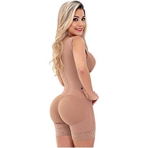 Sonryse 086 Faja Colombiana body short con brassier post liposuccion moldeadora