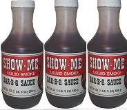 1 Case Show-Me Liquid Smoke Bar-B-Q sauce (12 x 21 (Barbecue Sauce Case)