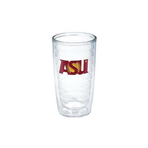 Tervis 1006697 Arizona State University Emblem Individual Tumbler, 16 oz, Clear