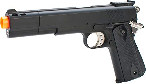 Evike HFC M1911 Elite .45 Long Barrel Airsoft Non-Blowback Gas Pistol (Color: Black)