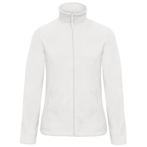 B and C Collection Womens/Ladies ID 501 Microfleece Jacket (S) (White)