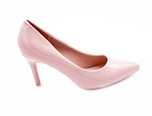 Fashion Shoes, Damen Pumps Rose A(8cm)