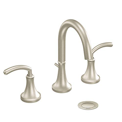 Moen TS6520BN Icon Two-Handle High Arc Bathroom Faucet without Valve, Brushed Nickel ()