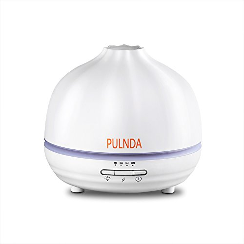 PULNDA X300W 300ml Essential Oil Diffuser, Aroma Humidifier Ultrasonic Cool Mist with 4 Timer Setting, 7 LED Color lights, Adjustable Mist Mode and Waterless Auto Shut-off for Office & Home