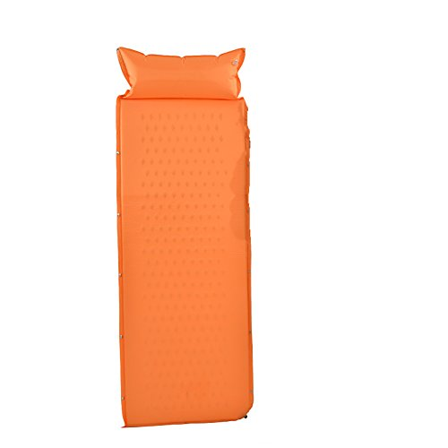 ZAY Automatische Inflation Camping Matte feuchtigkeitsBesteändig Decke Outdoor Teppich für einzelne Person (Farbe   Orange)