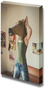 Woman Wearing a Horse Mask Wall Decor