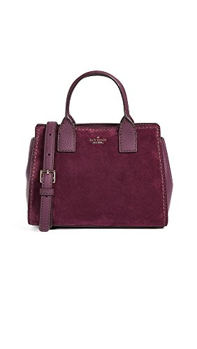 Kate Spade New York Women's Dunne Lane Suede Small Lake Satchel, Deep Plum, One Size