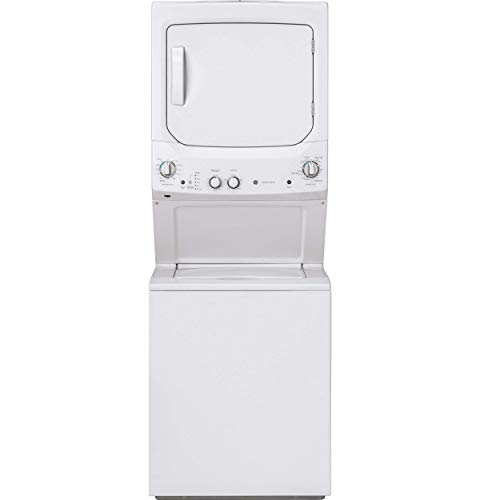(GE GUD27ESSMWW 27 Inch Electric Laundry Center with 11 Wash Cycles, 5.9 cu. ft. Dryer Capacity, in White (Certified Refurbished))