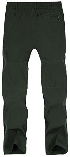 Singbring Men's Outdoor Lightweight Waterproof Hiking Mountain Pants Large AGreen(01B)