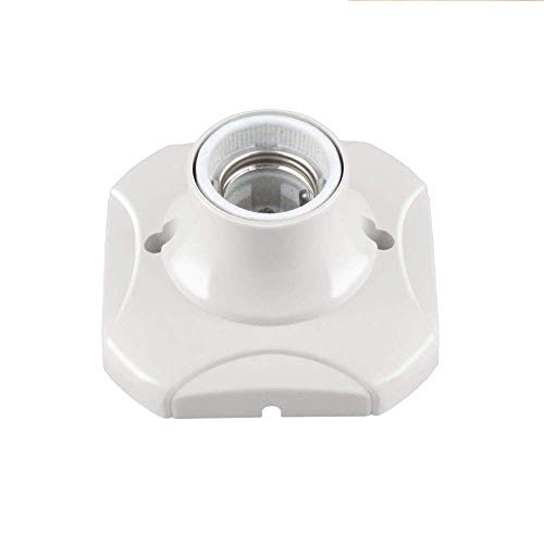 Light Socket E26/E27 Keyless Lamp Holder 200℃ Heat Resistant with 2 Terminal Screw DIY Projects Easy Installation (1 Pack)