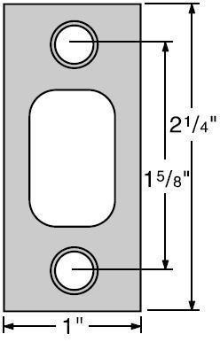 Kwikset 85072-15 Satin Nickel Square Corner 1'' x 2-1/4'' Deadbolt Strike Standard on 660 Series