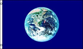 New 3x5 Earth Day Flag Environmental Planet GLOBE (World Flag)